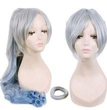 Blanco remolque peluca larga peluca del anime de cosplay del anime del partido de la princesa peluca masquerade cosplay peluca para mujeres