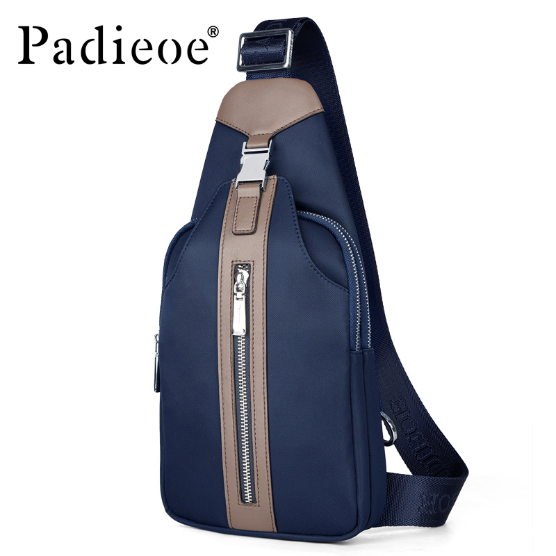 Padieoe Casual Chest Pack for Male Waterproof Top Quality Canvas Mens Crossbody Bags Fashion Travel Men Messenger BagPadieoe Casual Chest Pack for Male Waterproof Top Quality Canvas Mens Crossbody Bags Fashion Travel Men Messenger Bag