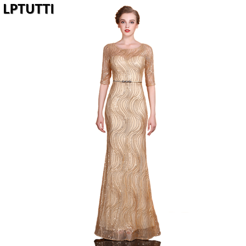 LPTUTTI Sequin Beading New For Women Elegant Date Ceremony Party Prom Gown Formal Gala Events Luxury Long   Evening     Dresses