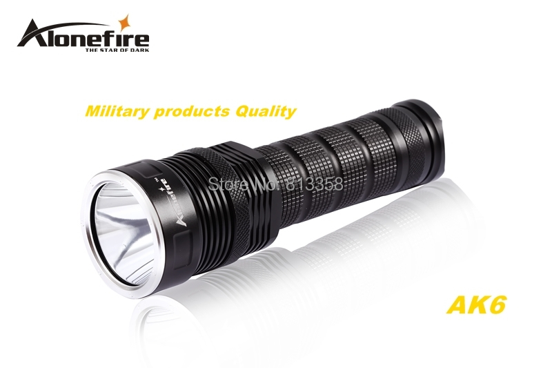 AloneFire AK6 CREE XM-L2 LED 5 mode Super upper beam irradiation flashlight torch light For 26650 rechargeable battery led flashlight led v5 cree xm l t6 adjustable 3 mode torch light suit rechargeable battery for outdoor 2 18650