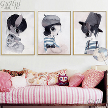 Scandinavia Gothic Mask Rabbit Girl Gentleman Boys Home Frameless Drawings Wall Pictures Canvas Painting Decorative Art Posters