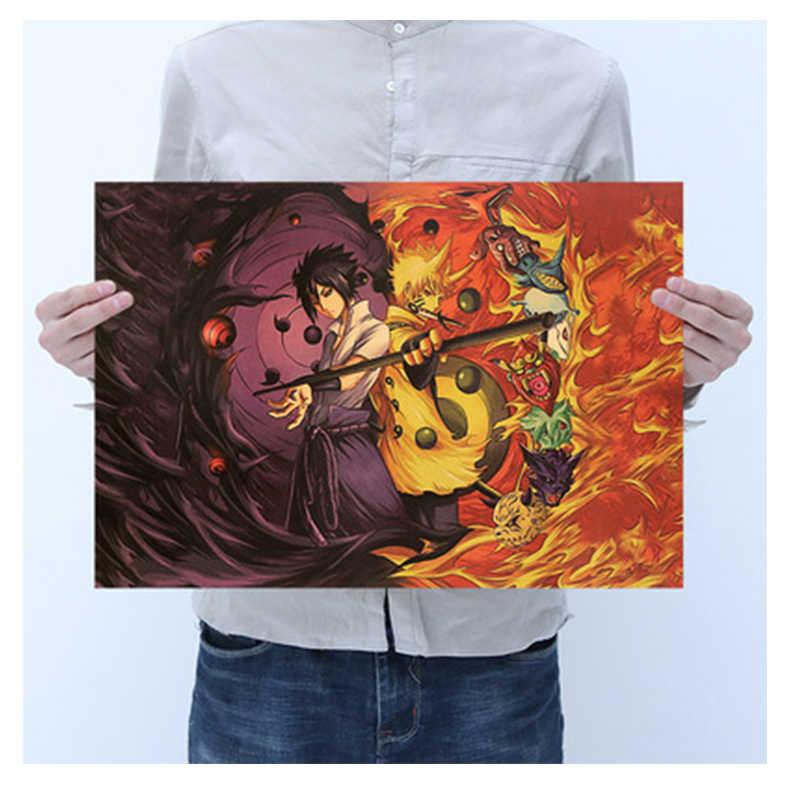 ملصقات كلاسيكية لشخصية أكشن يافن ناروتو ساسوكي كاكاشي لشخصية الحركة بار غرفة النوم ملصقات ملصقات للزينة muraux للأطفال