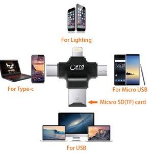 Image 4 - 4 w 1 czytnik kart typu C adapter micro usb TF czytnik kart micro sd dla systemu Android ipad/iphone 7plus 6s5s MacBook