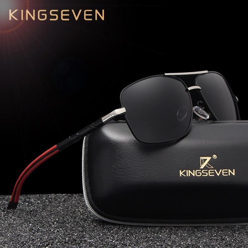 KINGSEVEN Uomini Del Progettista di Marca di Alluminio E Magnesio Occhiali Da Sole Polarizzati lente A Specchio di Sesso Maschile Occhiali Occhiali Da Sole Per Gli Uomini occhiali