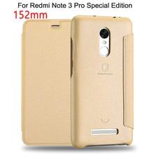 152 мм Флип Кожаный Чехол Для Xiaomi Редми Примечание 3 Pro Премьер-Специальный издание Телефон Обратно Чехол для Редми Примечание 3 3i Pro SE Coque случае
