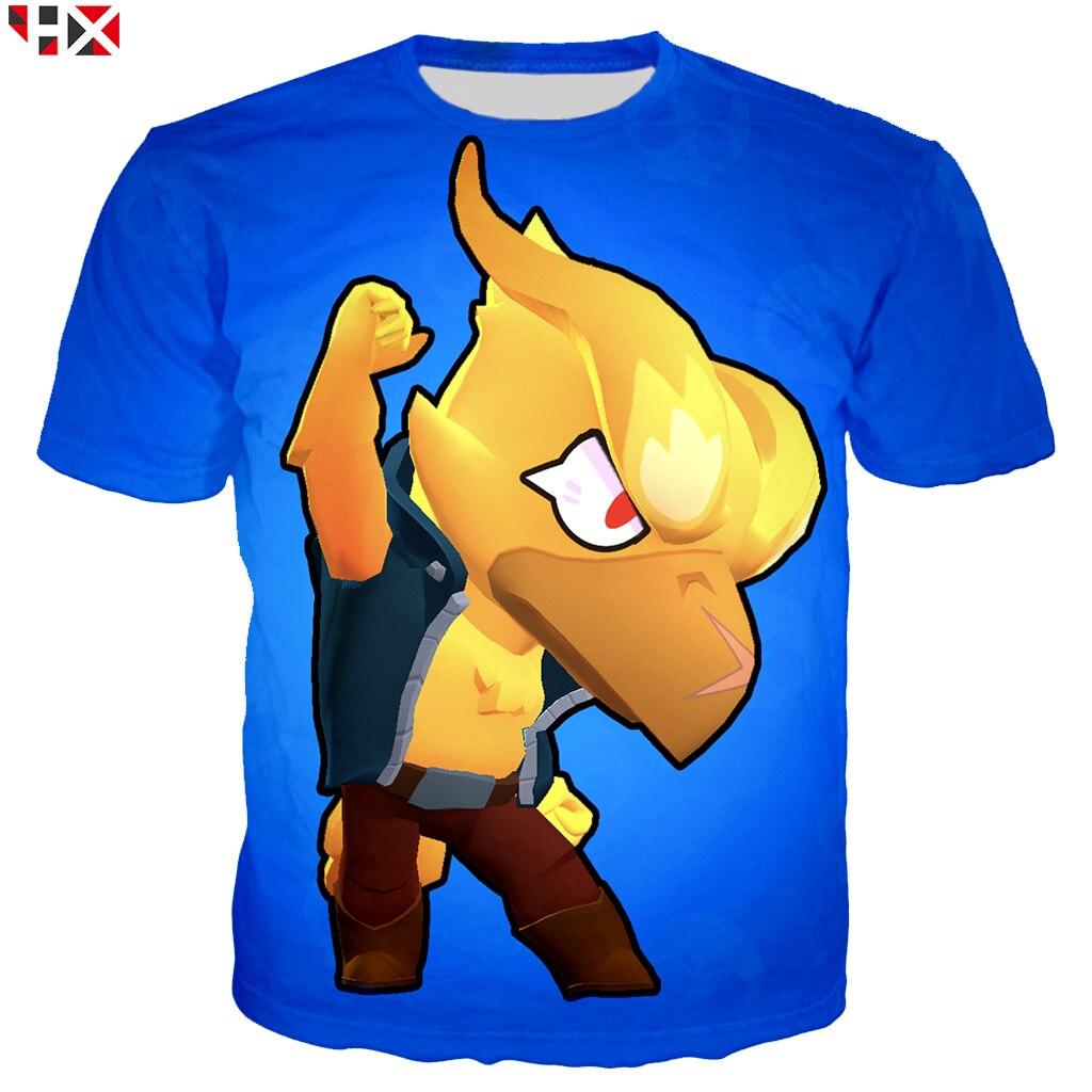 Harajuku style Men   T     Shirt   Brawl Stars Kids Game   T     Shirt   3D Printed Unisex Short Sleeve   T     Shirt   Streetwear Tops A870