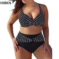 Hibkn Women Bikini Push Up Plus Size Xxxl 4xl 5xl Large Size 2 Piece Swimsuit Women