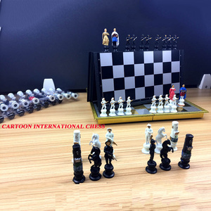 Image 2 - High quality Cartoon Character Magnets International Chess Portable Chess Teaching Training Children/Teenager Gift For Hot Sale