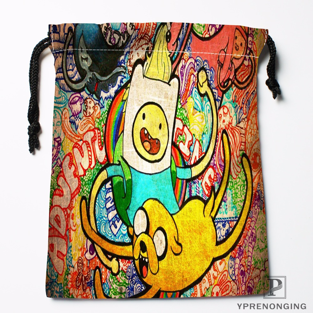 Custom Adventure Time Drawstring Bags Printing Fashion Travel Storage Mini Pouch Swim Hiking Toy Bag Size 18x22cm#180412-11-02