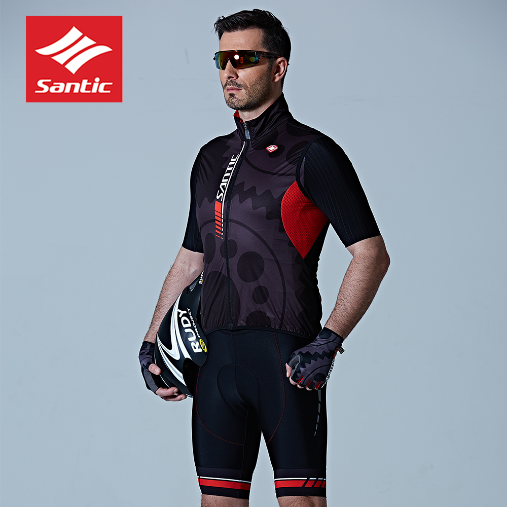 2018 SANTIC MEN'S cycling jersey red Spring & Summer outdoor sport maillot short Sleeve cycling clothing Compression bike shirts cycling jersey 176 hot selling hot cycling jerseys red lily summer cycling jersey 2017 anti shrink compressed femail adequate qu