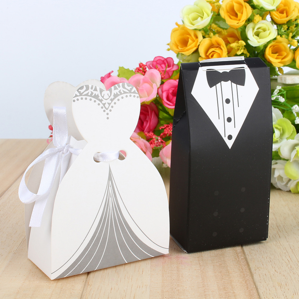 Hot Sell Fashion Bridal Groom Tuxedo Dress Gown with Ribbon Candy ...