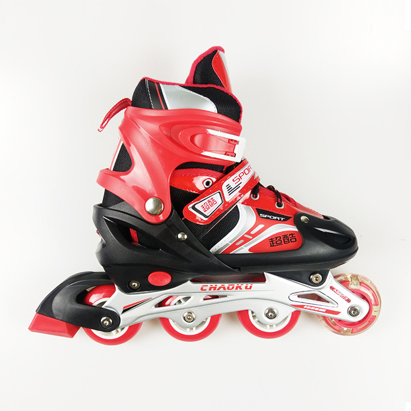 1 Pair Adult Children Inline Skate Roller Skating Shoes  Adjustable Washable PVC Hard wheels One Front Wheel Flashing 3 Colors girls and ladies favorite white roller skates with full grain genuine leather dual lane roller skate shoes for adult skating