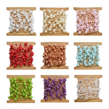 5M Fishing Line Artificial Pearls Beads Chain Garland Flowers Wedding Bridal Bouquet Party DIY Decoration