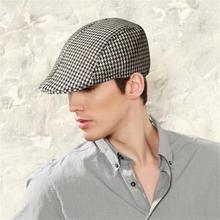 Простой узор «гусиная лапка», открытый теплый Гольф-берет, плоская кепка, повседневная Кепка, кепка для гольфа для мужчин и женщин