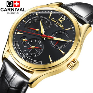 Image 2 - CARNIVAL reloj mecánico para hombre, automático, multifunción, calendario, resistente al agua, luminoso, masculino