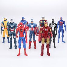 The avengers Figura infinito guerra Super-heróis hulk thor homem aranha Capitão América Ironman Spiderman venom PVC Figure Toy presentes(China)