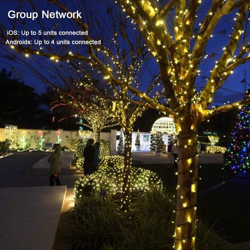 new hot dimmable led christmas lights 200 led 65ft mini string lights bluetooth led lights controlled by ios android devices in led string from lights