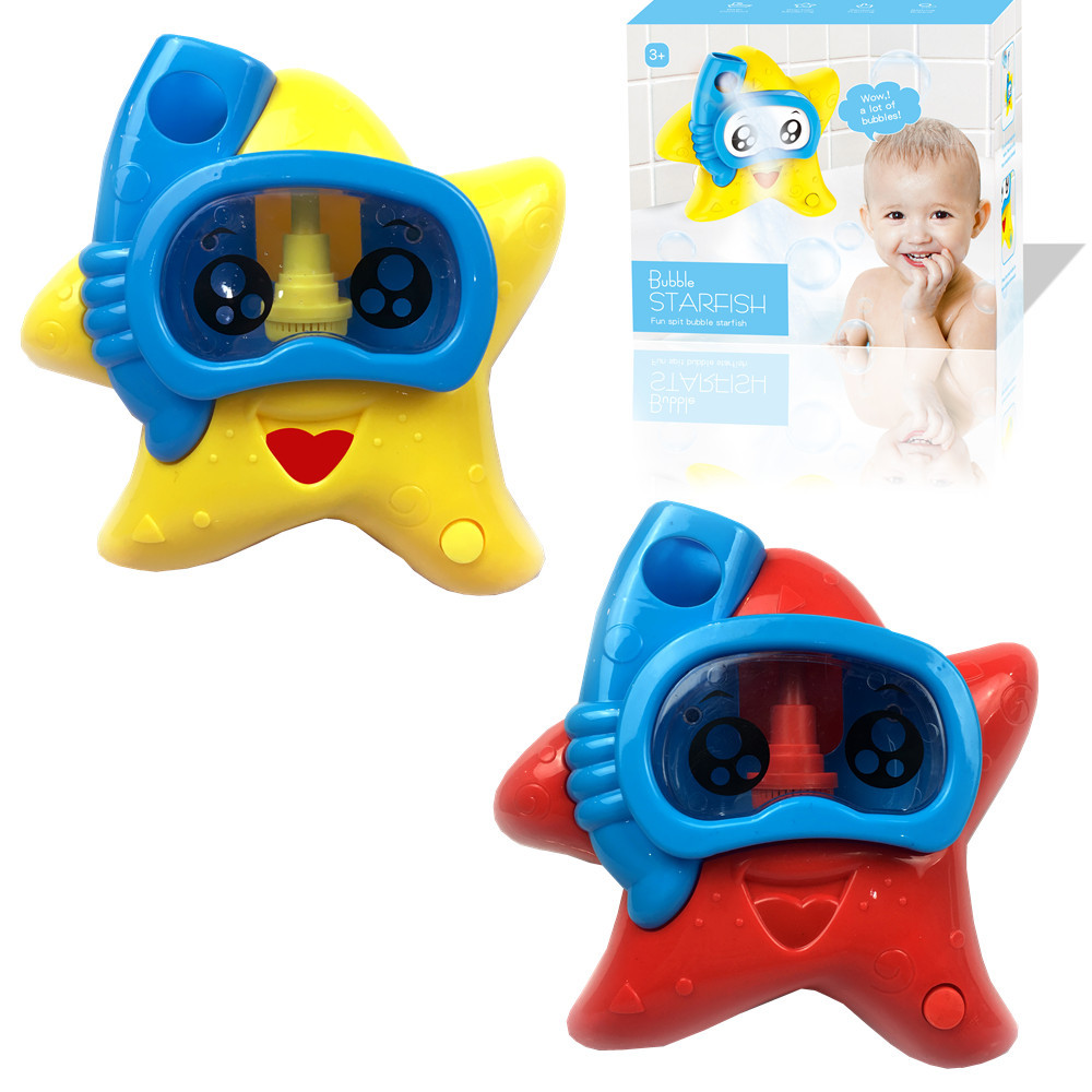 Outdoor Bubble Starfish Baby Bath Toy Bubble Maker Swimming Bathtub Soap Machine Summer Toys For Children Water Toy Dropshipping