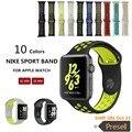 1:1 Оригинальный спорт Силиконовый ремешок для iwatch Series1 2 NIKE apple watch band 42 мм мужчины Резиновый браслет наручные С Адаптером