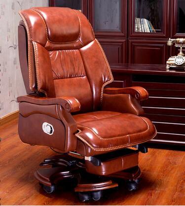 Chefsessel holz  Boss leder liegemassagestuhl home office computer stuhl, drehen ...