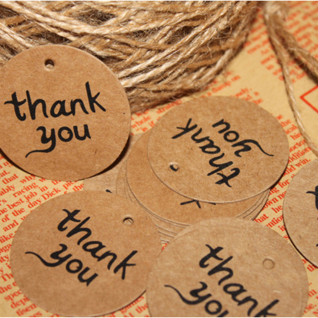 Diy Thickening Kraft Paper Cards Gift Card Label Thank You Card