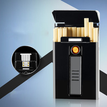 Portable USB Electronic Cigarette Case with Lighter 20pcs