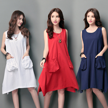 Summer Sleeveless Loose Maternity Dress Gravida Roupa Gestante Dresses Pregnancy Clothing Pregnant Women Fashion Clothes B112