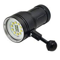 Professionele CREE L2 LED Wit Rood UV Torch Onderwater Video Duiken Led Zaklamp lampen
