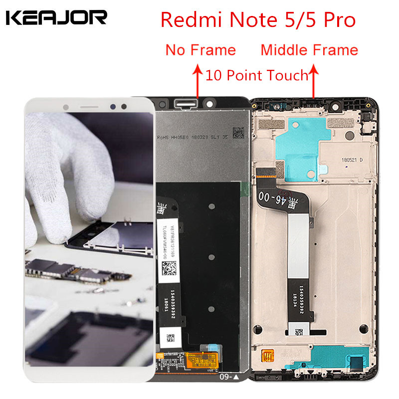 For Xiaomi Redmi note 5 lcd screen redmi note 5 Pro Screen Tested Display Touch Replacement for Redmi Note 5/Note 5 Pro 5.99'