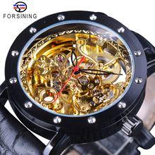 Мужские часы forsining механические из натуральной кожи