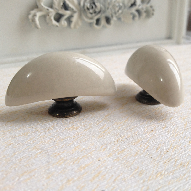 Rustic Antique Moon Ceramic Kitchen Cabinet Knobs and Handles Cupboard Closet Door Drawer Pull Handle Knob 44mm pastoralism pumpkin ceramic knob kitchen ceramic door cabinets cupboard knob and handles 1pcs