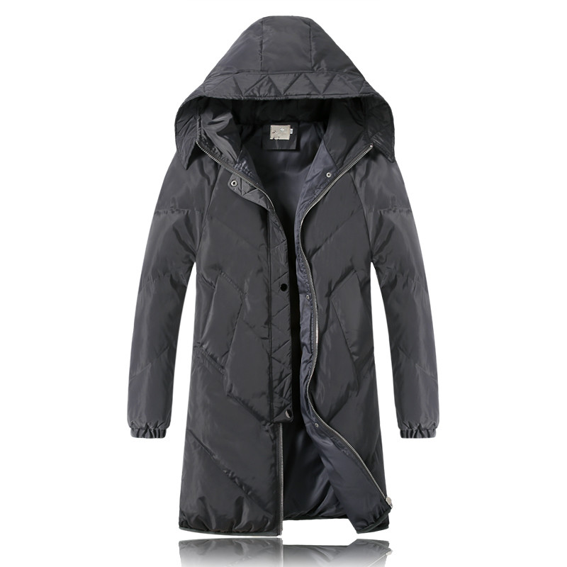 2016 winter new style Men s casual fashion high quality hooded jacket hooded thick Parkas Men
