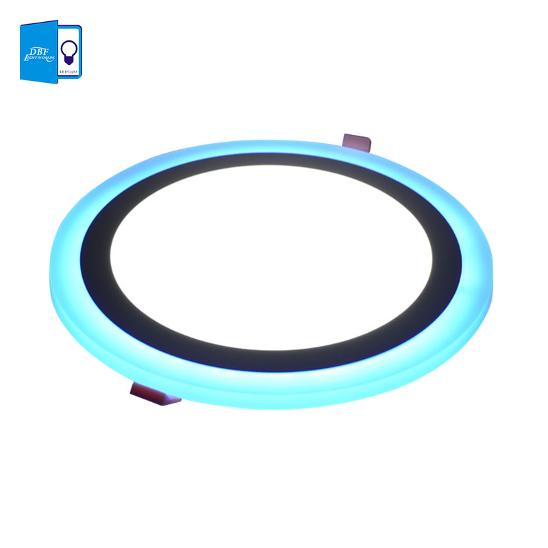 LED Ceiling Recessed Panel light 6W 9W 16W 3 Model LED Panel Downlight Blue+White 2 colors AC85-265V Round LED Painel Lights mlsled mls xd32 16w 16w 1100lm 160 smd 3014 led white ceiling light white 100 240v