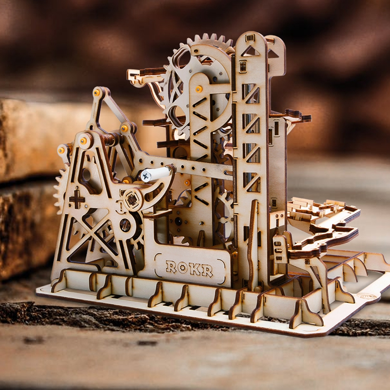 Robud 4 tipos de correr de madera engranaje modelo Kits de construcción mecánica juguete de regalo para niños LG501-LG504 para Dropshipping. exclusivo.