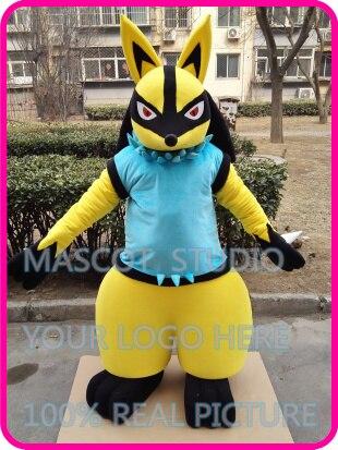 Mascotte doré lucario dessin animé mascotte costume personnalisé fantaisie costume anime cosplay kits mascotte dessin animé thème