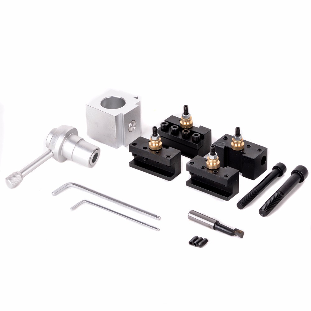 Mini Quick Change Tool Post Holder &Bolts Kit For Table Hobby Lathes