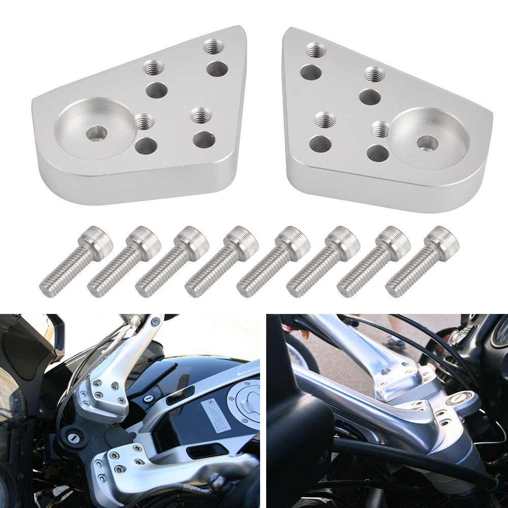 Handlebar Riser Mount Clamp Kit For BMW R1100R R1100RT R1150R <font><b>R1150RT</b></font> R1200RT R 1100R 1100RT 1150R 1150RT 1200RT R 1100 1150 RT image