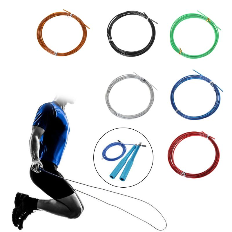 3m <font><b>Crossfit</b></font> Replaceable Steel Wire Cable Speed Jump <font><b>Ropes</b></font> <font><b>Skipping</b></font> Spare <font><b>Rope</b></font> 10166 image