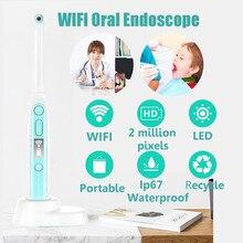 Endoscópio intraoral hd sem fio, câmera dental com 8 luzes led de inspeção para dentista oral em tempo real ferramentas,Clareamento dos dentes