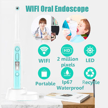 Endoscopio Intraoral inalámbrico con WiFi, cámara Dental HD con 8 luces Led, inspección para dentista, vídeo Oral en tiempo Real, herramientas dentales
