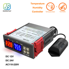 STC-3028 Dual Digital Humidity Controller Temperature Controller for Fridge Thermostat Regulator 12V 24V 220V Thermometer цена и фото
