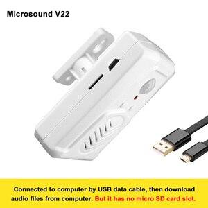 Image 4 - ワイヤレス pir モーションセンサー検出器活性化ハロウィンサウンドスピーカー小型悲鳴ボックスセキュリティ警報システムモール
