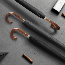 OLYCAT Neue Ankunft Lange Regen Regenschirm Männer Frauen Business Holzgriff Große Regenschirm Winddicht 10 Rippen Glas faser 300T Paraguas