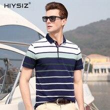 HIYSIZ NEW 2019 Cotton T-Shirt  Streetwear Casual Gradient Fringe Turn-down Collar Men TShirt Sleeve T Shirts For Summer ST009