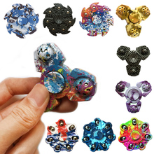 2017 New Tri font b Spinner b font Fidget Toy EDC HandSpinner Anti Stress Reliever And