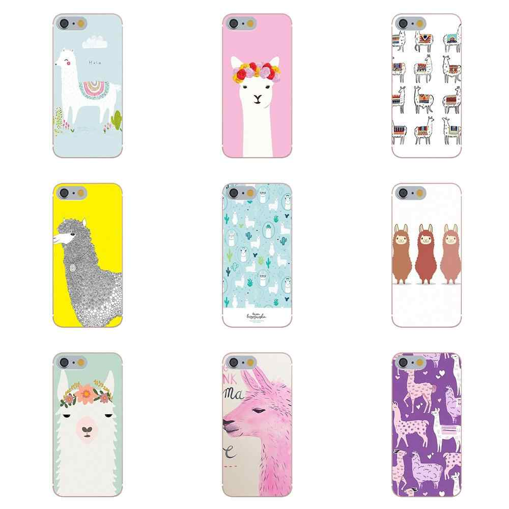 Cute Llama Alpaca Animals Cartoon TPU Cool Best For Huawei G8 Honor 5C 5X 6 6X 7 8 9 Y5II Mate 9 P7 P8 P9 P10 P20 Lite Plus 2017