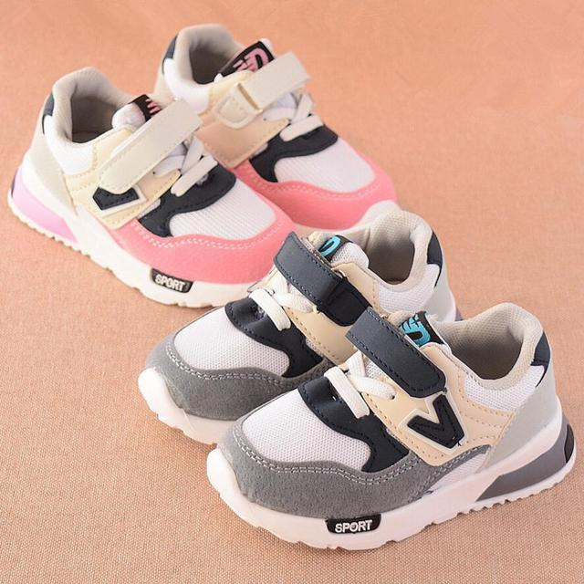 Sport Children Shoes New Autumn Winter Net Breathable Fashion Kids Boys Shoes Anti-Slippery Girls Sneakers Toddler Shoes