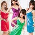 Можете выбрать цвет Женщины Сексуальное Белье Мини Одежда Нижнее Белье Прозрачный Сорочка Пижамы + G-String MS132