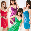 can choose color Women Sexy Lingerie Mini Dress Underwear Transparent Babydoll Sleepwear+G-String  MS132