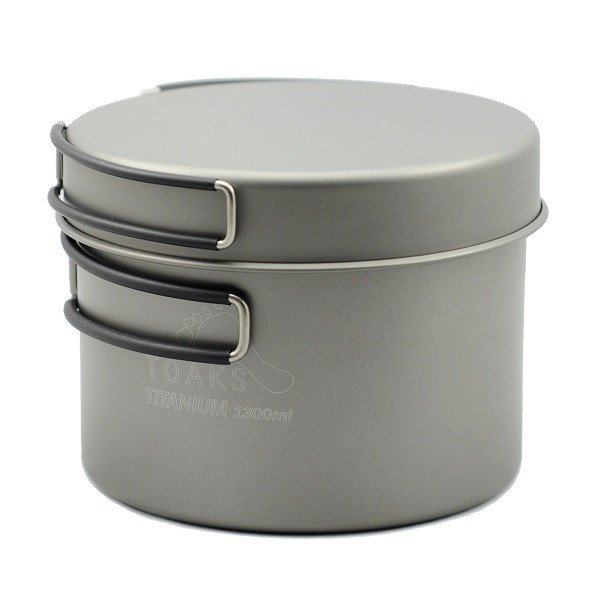 TOAKS Titanium Pot With Pan Titanium Pot Titanium Pan Titanium Cookware set 1300ML nz titanium cookware 1200 ml